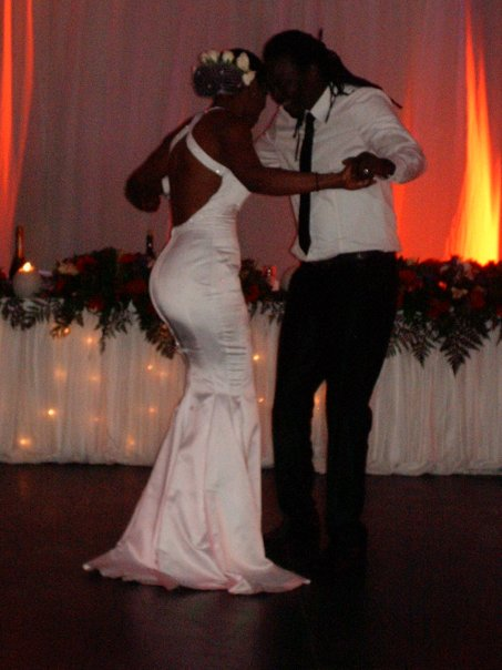 The newly weds take the dance floor, Unathi and Thomas who have been ...