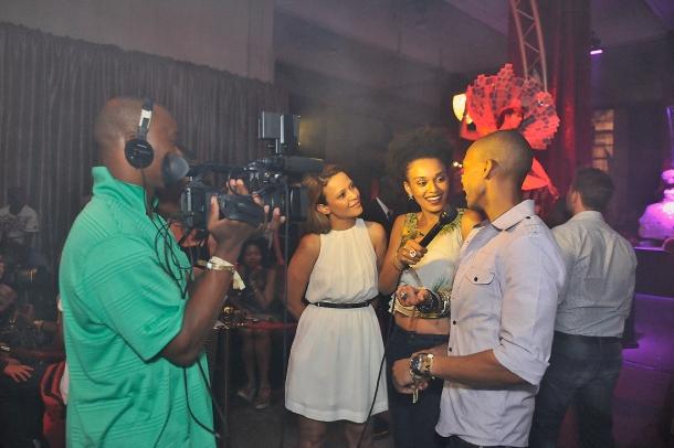 Pearl Thusi interviewing Blaze & Farah Fortune