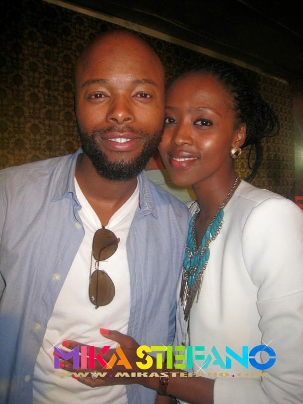 Thapelo Mokoena and wife