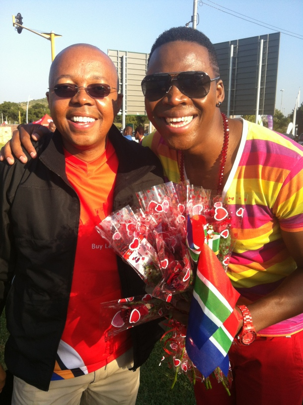 Leslie Sedibe and Lloyd Cele