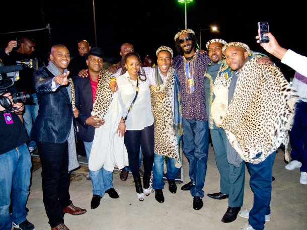 Snoop With Zulu Royal family (2)