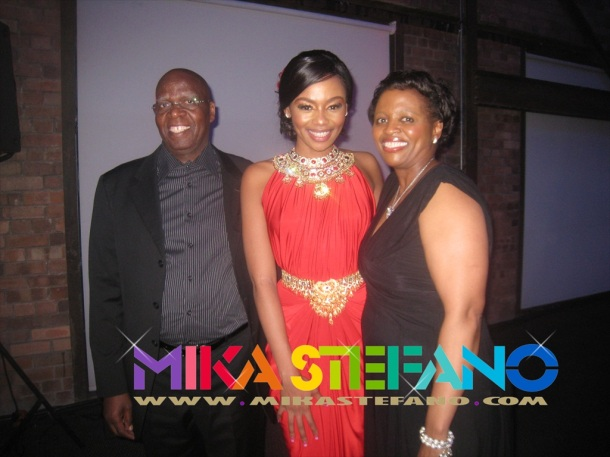 Bonang Matheba and family
