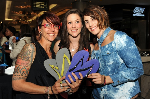 Caherine Grenfell, Claire Conchar and Nicole Da Silva